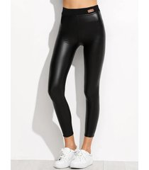 leggings deportivos de cintura alta negros