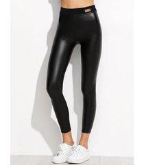 leggings deportivos negros de cintura alta