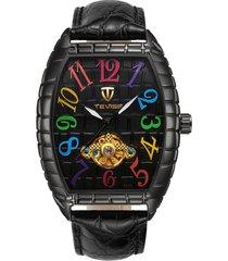 reloj, relojes de los hombres reloj de cocodrilo reloj-negro