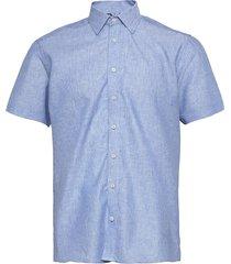 8800 - state n 2 soft st trim kortärmad skjorta blå sand