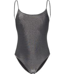 ack fisico amarena scoop neck swimsuit - metallic