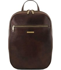 tuscany leather tl141711 osaka - zaino porta notebook in pelle testa di moro