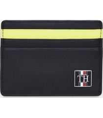 tommy hilfiger men's pop stripe card case black -