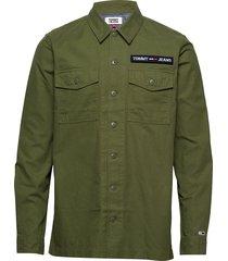 tjm velcro overshirt overshirt groen tommy jeans