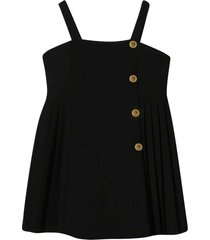 young versace black overalls dress