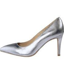 pumps i elegant, spetsig modell liva loop silverfärgad