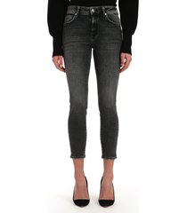 women's mavi jeans tess high waist ankle super skinny jeans, size 27 x 27 - black
