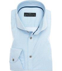 john miller shirt lichtblauw motief stretch