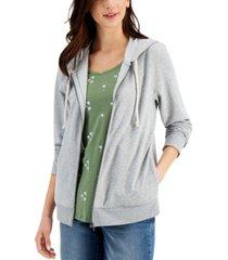 style & co zip hoodie sweatshirt, created for macy's