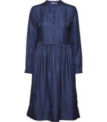 mila dress knälång klänning blå nué notes