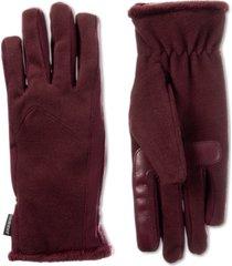 isotoner signature women's smartdri stretch fleece touchscreen gloves