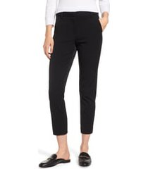 women's cece straight leg pants, size 10 - black