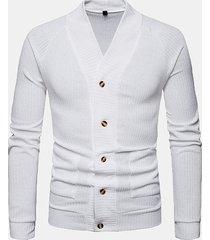 cappotto a manica lunga con maniche monopetto v collo da uomo traspirante
