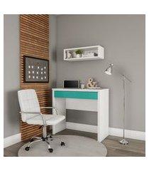 cadeira de escritório tesoureiro giratória fitz branca