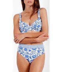 bikini admas 2-delig beugelbikini set etienne blauw