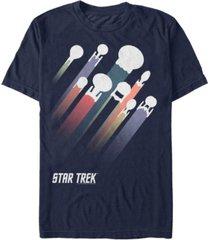 star trek men's the original series retro ship streaks short sleeve t-shirt