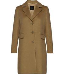 cashmere coat w - britni 2 wollen jas lange jas bruin sand