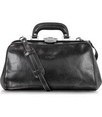 chiarugi designer doctor bags, black leather handmade professional doctor bag