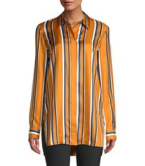 barry multi-stripe silk blouse
