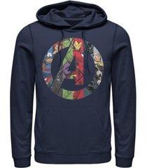 fifth sun men's marvel avengers heroes icon fleece pullover hoodie