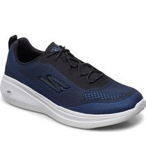 mens go run fast låga sneakers blå skechers