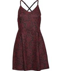 alexandra vee skater dress kort klänning röd superdry