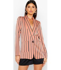 stripe tailored blazer, blush
