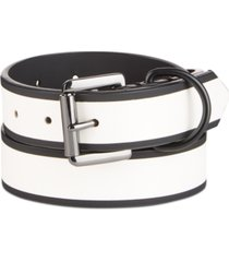 inc men's flat strap belt, created for macy's