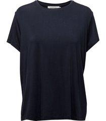 siff tee 6202 t-shirts & tops short-sleeved blauw samsøe & samsøe