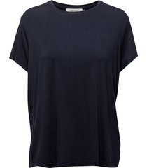 siff tee 6202 t-shirts & tops short-sleeved blauw samsøe samsøe