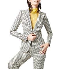 women's smythe duchess check blazer, size 4 - ivory