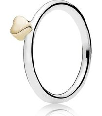 anel combinável coração de ouro