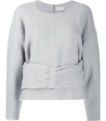 3.1 phillip lim belted sweater - grey
