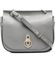 mulberry amberley leather satchel - grey
