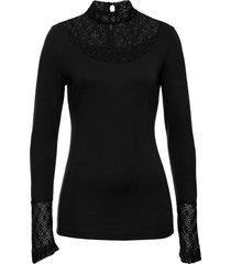 maglia a maniche lunghe con pizzo (nero) - bodyflirt boutique