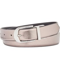 inc reversible plus-size belt, created for macy's