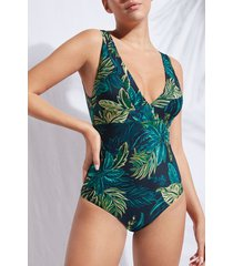 calzedonia one-piece swimsuit fortaleza woman green size xl