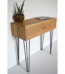 drewniana konsola rupe biurko dębowe