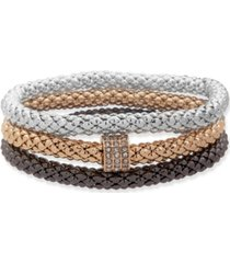 nine west boxed stretch bracelets, 3 set