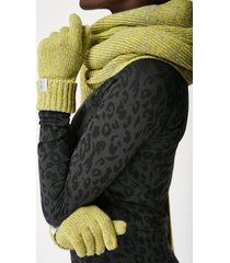 texture merino knitted gloves