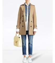 burberry kensington mid-length trench coat - neutrals