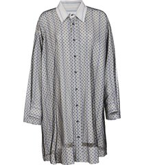 off-white viscose dress