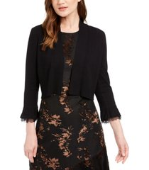 calvin klein lace-trim shrug sweater