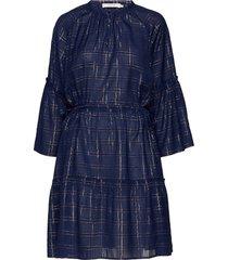 deep jurk knielengte blauw munthe