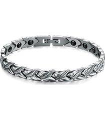 braccialetto magnetico del ginocchio dell'acciaio inossidabile del braccialetto unisex di salute