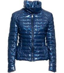 fracomina fr19fp-742 padded jacket blauw