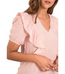 blusa karina rosa ragged pf12110494