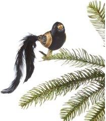 holiday lane black tie black bird ornament, created for macy's