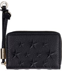 jimmy choo nellie leather zip around wallet