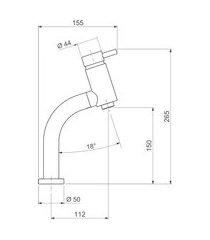 misturador de mesa para lavatório monocomando deca link bica baixa cromado
